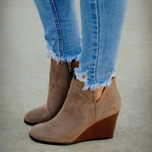 Details about  /Botines De Mujer Zapatos Casuales Moda Zapato De Mujeres Cómodos Calzados Botas