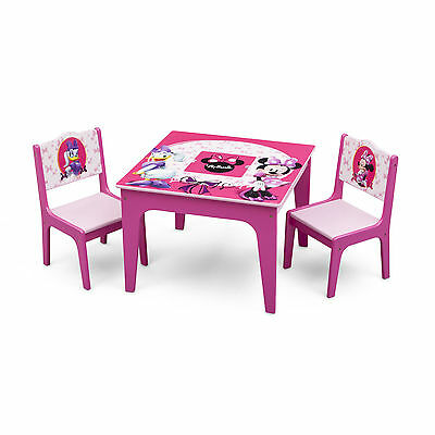 Wooden Minnie Mouse Table And Chairs, Minnie Mouse Furniture