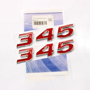 2x-Red-345-Emblem-Badge-decal-3D-for-Dodge-Challenger-Chrysle-HEMI-2WU