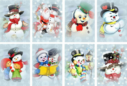 Crafts Jolly Snowman Christmas Glossy Finish Card Making Topper