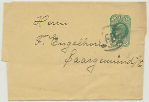 GB-1902-EVII-D-bluegreen-VF-postal-stationery-wrapper-NPB-FB-from-LONDON