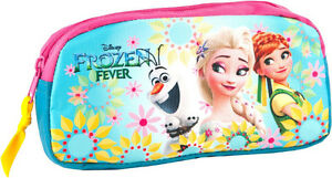 Disney-Frozen-Pencil-Pouch-Case-Tube-Fever-School-Girls-Anna-Elsa