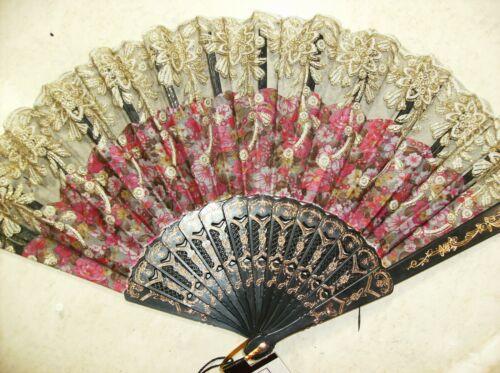 Peacock Fan Hand Folding Chinese Held Fans Women Japanese Oriental Asian elegant