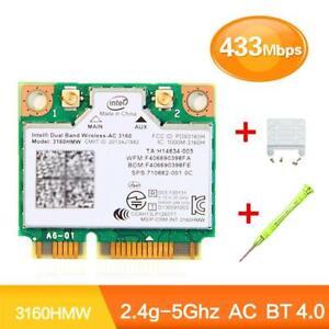 Intel-3160HMWBluetooth-4-0Wifi-Kabellos-AC-3160-802-11-Mini-PCI-E-WLAN-Karte