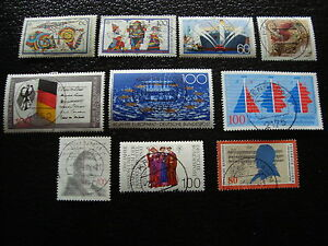 Germany-Rfa-Stamp-yt-N-1249-A-1258-Obl-Stamp-Germany