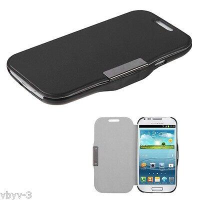BLACK Premium Leather Wallet Case Cover Folio Flip  for Samsung Galaxy S3 S III