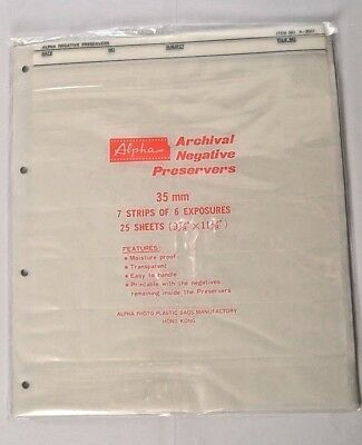 7 tiras de 6 exposiciones * Negativo archivo Alfa chalecos salvavidas 35 mm 25 Hojas