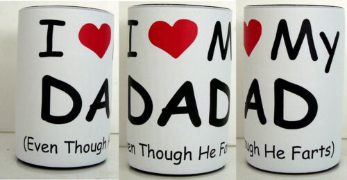 Fathers Day Gift Personalised Quality Stubby Holders I Love My Dad