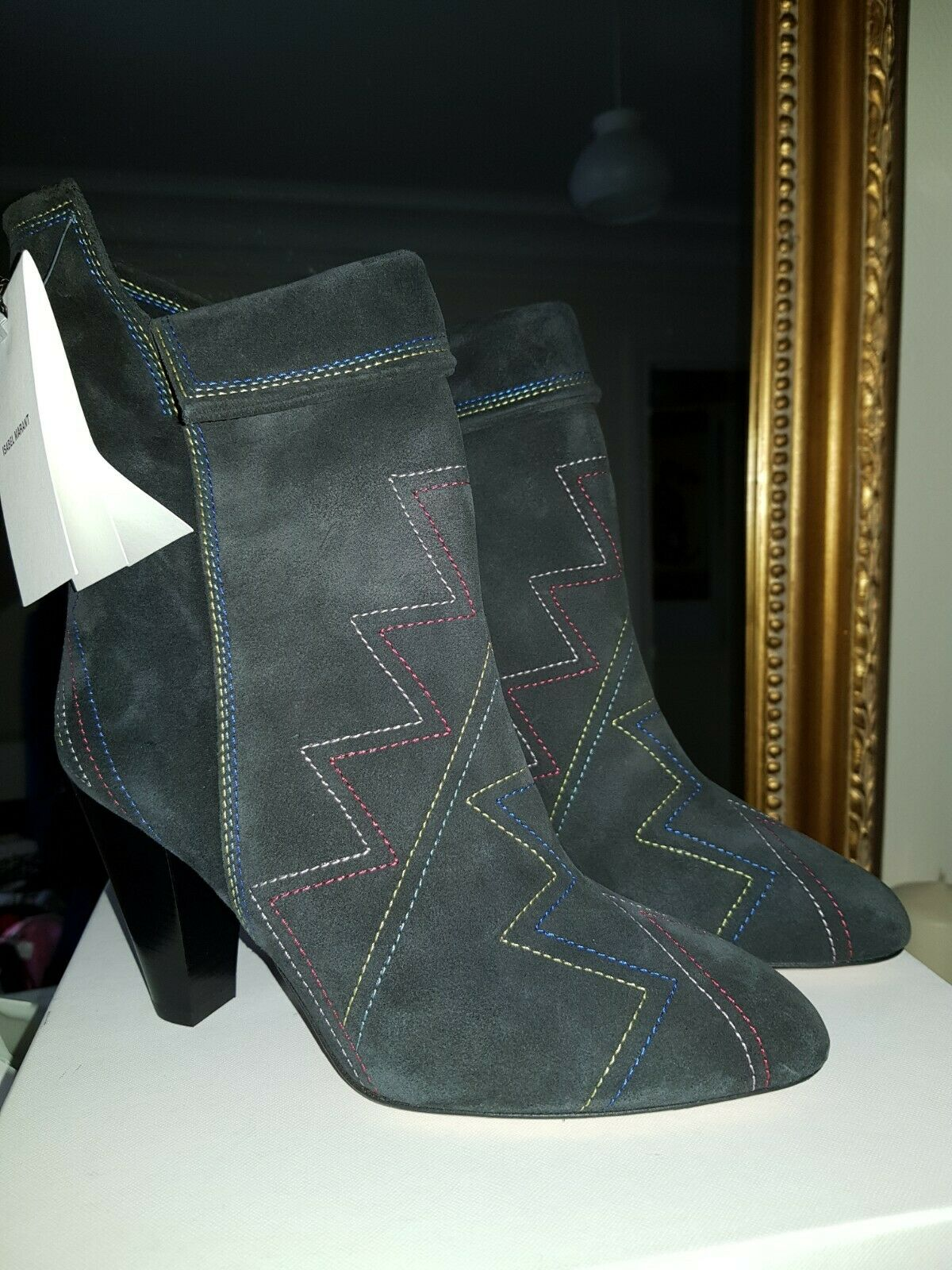 ISABEL MARANT Stitched Story Dyna botas w  Tags New with Box EU 39