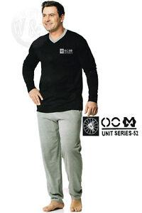Hard-Working Herren Pyjama Unit Series 52 Schwarz/grau L 52/54 Schlafanzug Langarm Grade Products According To Quality Men's Clothing