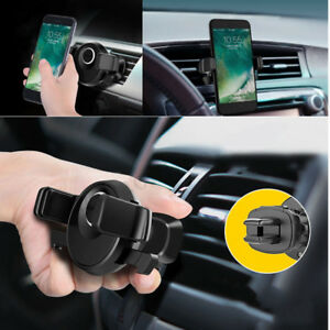 Dettagli Su Porta Cellulare Supporto Auto Per Bocchette Aria Per Apple Iphone X 6s 7 8 Plus