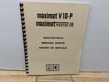 Emco Emcomat 7 /& 7L /& Maximat V10 Lathe Instruction /& Parts List Manual *1249