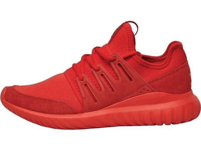 cheaper 90dd3 d316f ADIDAS ORIGINALS TUBULAR RADIAL MENS TRAINERS RED UK SIZE 10
