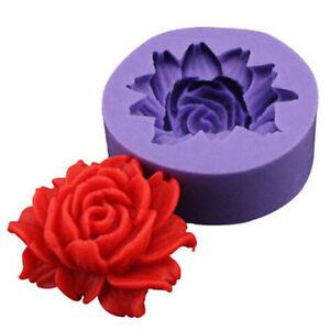 Moule-Gateaux-Silicone-3D-ROSE-Pate-a-Sucre-d-039-amande-Fimo-Patisserie