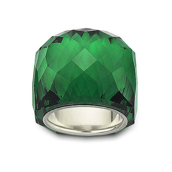 d9df9cae2abb NEW RARE COLLECTOR S SWAROVSKI NIRVANA RING EMERALD GREEN CRYSTAL SIZE 7