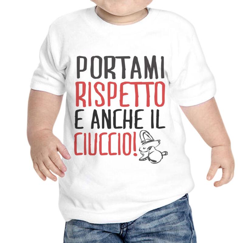 T-shirt Newborn Unisex Portami Rispetto The Pacifier