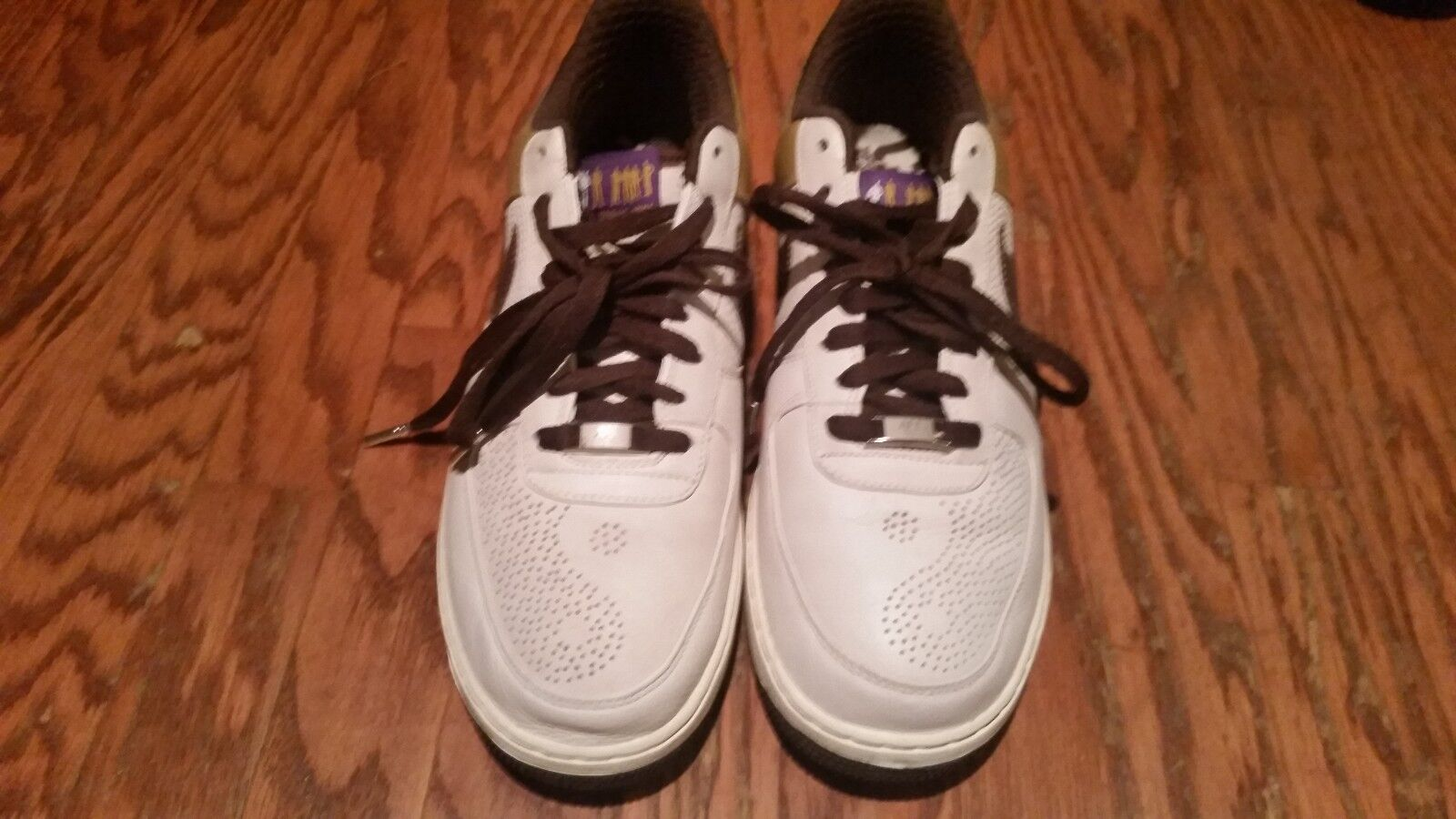 Nike shoes Air Force one/1 brown/gold shoes Nike lowtop size 11.5 normal width abab7e