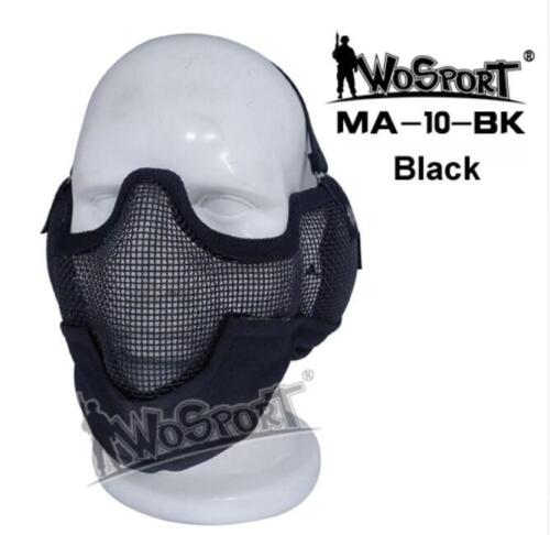 MA-10 Metal Wire Half Mask Ear Cover Tactical Hunting Cycling Guard Protect Mask