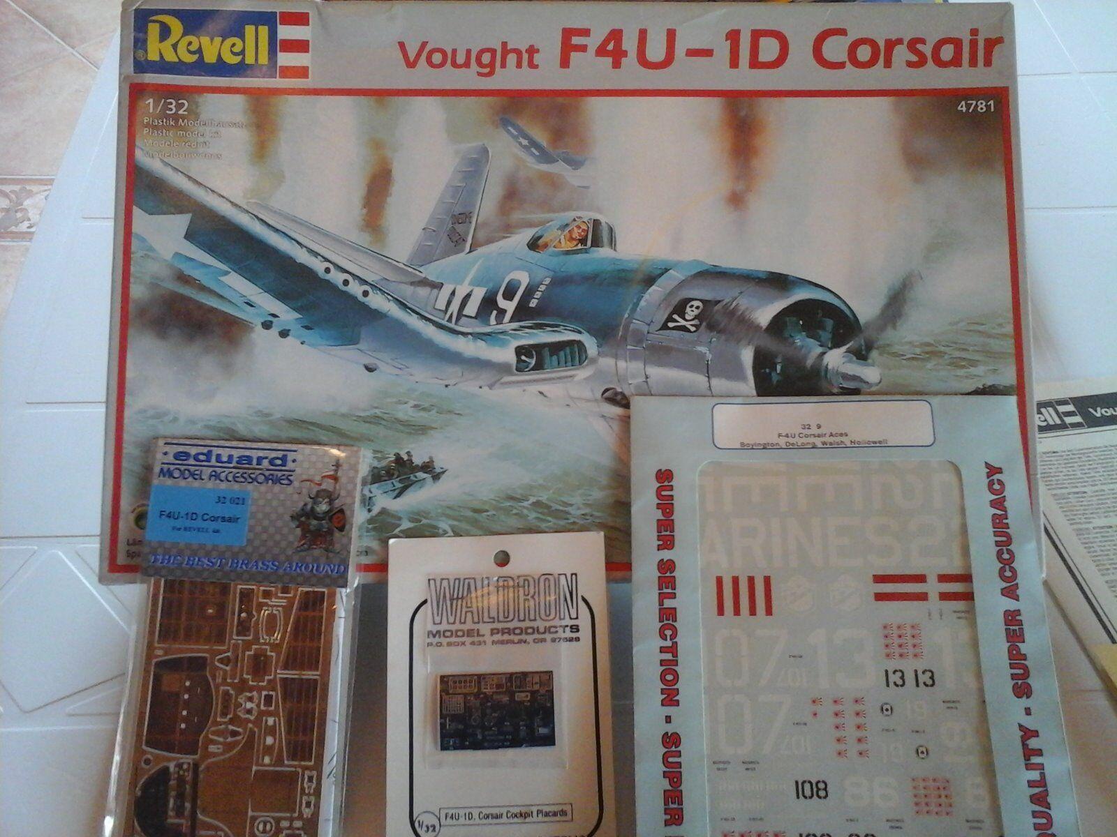 descuento de bajo precio VOUGHT F4U-4D CORSAIR 1 32 SCALE SCALE SCALE REVELL MODEL+PHOTOETCHED+súper DECALS+COCKPIT D  los nuevos estilos calientes