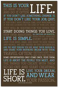INSPIRATIONAL PICTURE IF YOU LOVE....... MOTIVATIONAL QUOTE POSTER PRINT