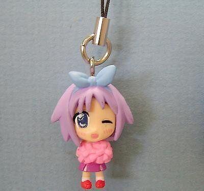 Anime Lucky Star minuscule figure keychain Tsukasa rose ponpon