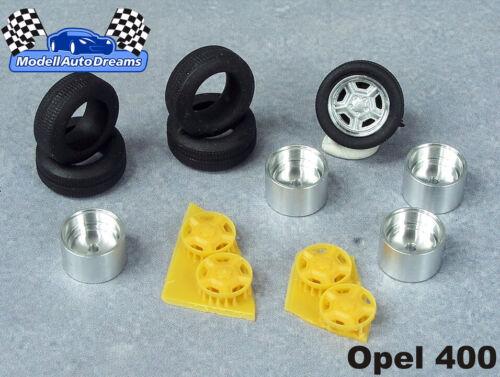 Llantas llantas frase transformación accesorios Opel 400 ligeramente metal llanta ruedas juego de ruedas 1:43