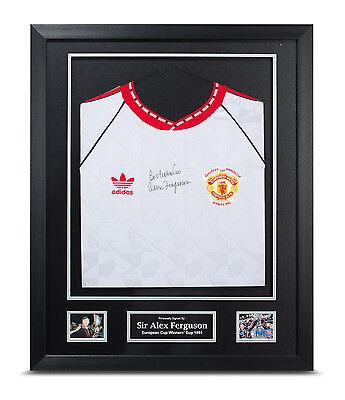 Sir Alex Ferguson Signed Shirt Framed Man Utd 1991 CWC Autograph Memorabilia COA