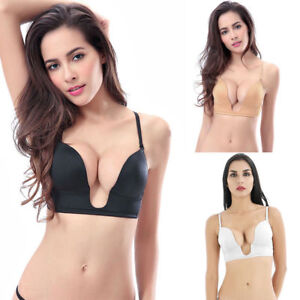df7b7b0dc2 Ultra Deep U Plunge Push up V Bra 3 Way Straps Convertible Underwear ...