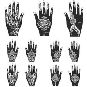 black henna hand arm stencil mehndi templates easy to use indian