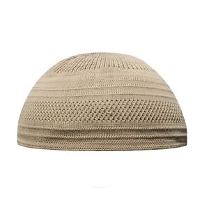 Image is loading TheKufi-Light-Brown-Cotton-Stretch-Knit-Kufi-Hat- 568a220b54ff