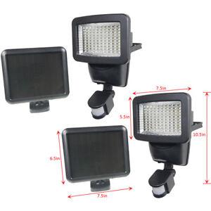 2 pack 100 smd leds black solar powered motion sensor security light image is loading 2 pack 100 smd leds black solar powered aloadofball Image collections