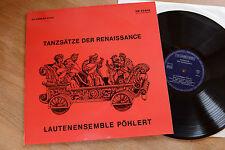 Tanzsätze Der Renaissance Lautensemble Böllert Laute lute LP  SM93603 nm