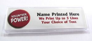 Details about Volunteer Power Custom Name Tag Badge ID Pin Magnet for  Volunteers Event Agency