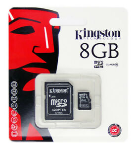 Kingston-8GB-8-GB-SDC4-Micro-SD-HC-SDHC-Flash-Memory-Card-Class-4-TF