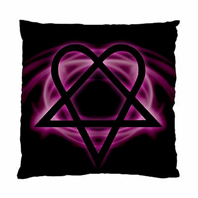 "HIM HEARTAGRAM Cushion Case (Two Sides) 17""x17"" 100% Polyester New."