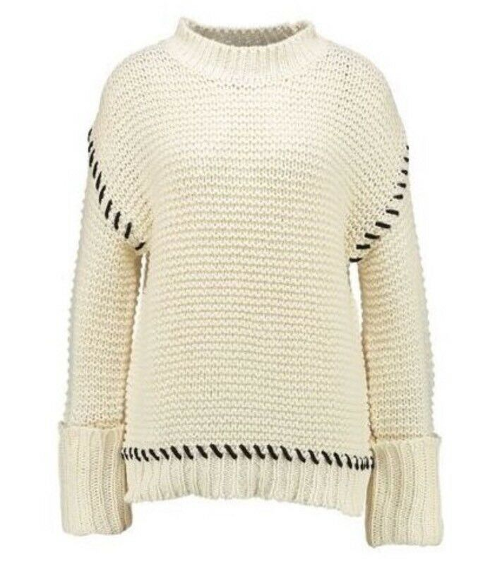Topshop cream Sweater Size Small