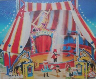cirque pièce Playmobil 4230 lot 5 poteaux bleus entourage chapiteau tour