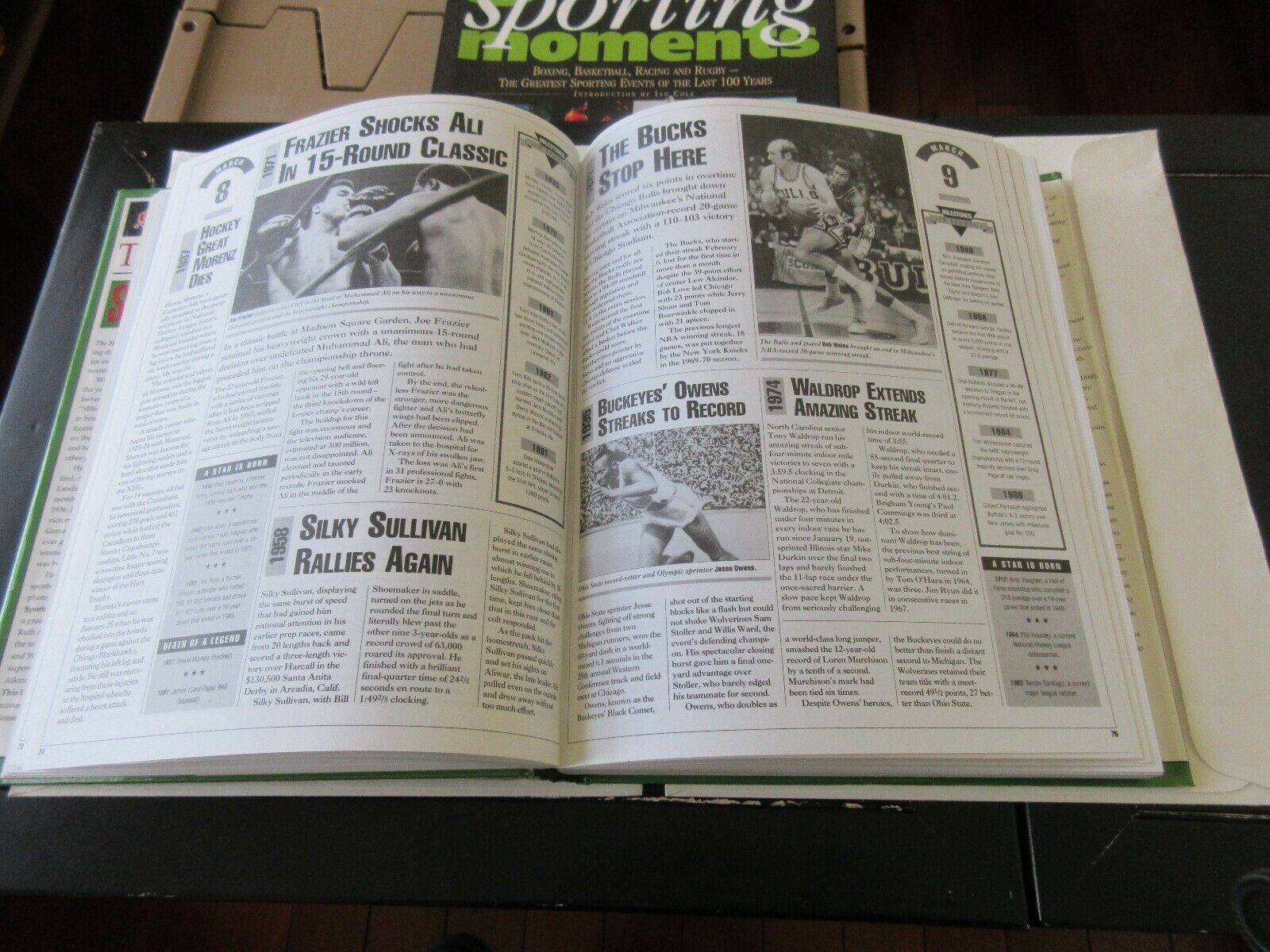 THE SPORTING NEWS THIS DAY IN SPORTS , a day-by-day rec