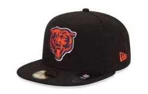 KIDS Chicago Bears Cap New Era 5950 Fitted Hat NFL League Basic ... 43420d29a