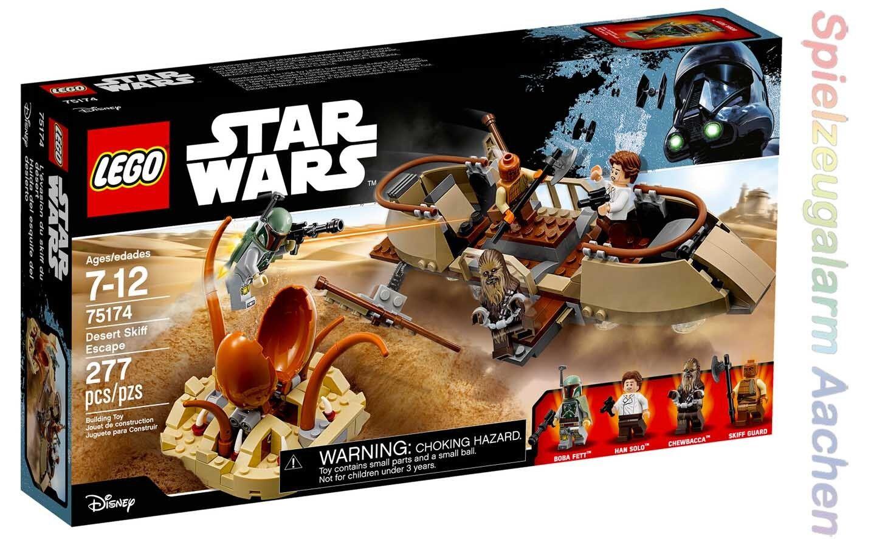 LEGO 75174 Star Wars Desert Skiff Escape Han Solo Chewbacca Boba Fett  N1 17