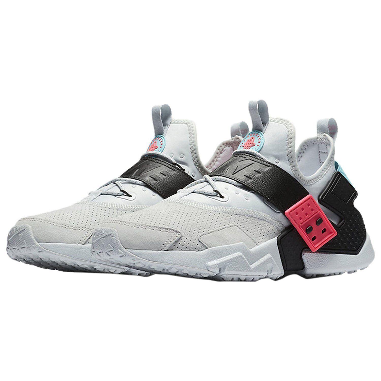 Nike Mens Huarache Drift Prm Sneakers Pure Platinum/Black-Racer Pink AH7335-003 Comfortable and good-looking