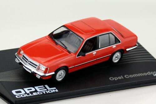 OPEL COMMODORE C ROSSO 1978-1982 1:43 Ixo//Altaya modello di auto