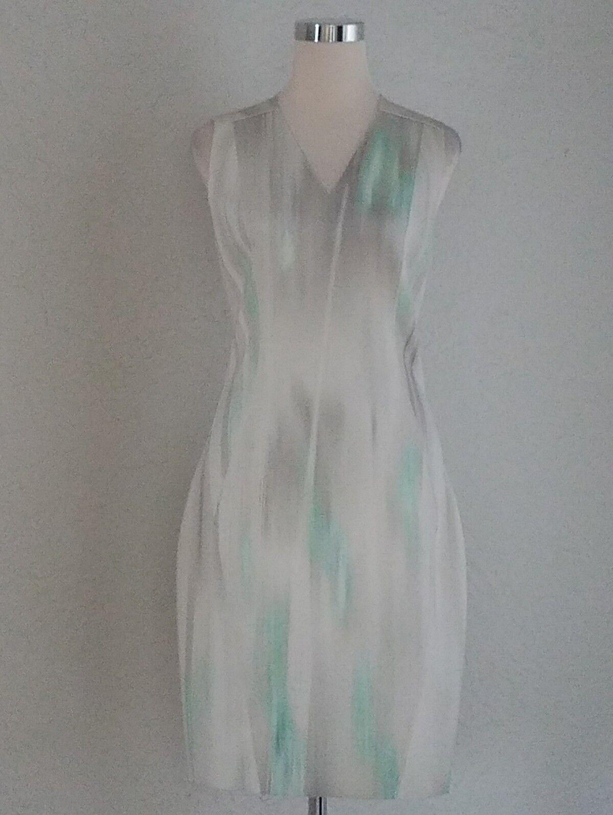 Elie Tahari Woman's Sheath Multi-color Scuba Scuba Scuba Dress Size 6 Medium  New 77687e
