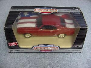 ERTL 1/18 AMERICAN MUSCLE 1969 CAMARO Z/28 GARNET RED CE CAR