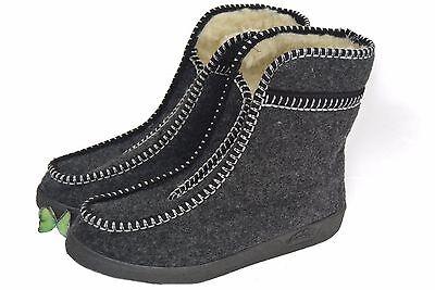 Para Hombre / Para Mujer Ovejas Lana / Fieltro Zapatillas Botas cálido Talla 2 - 11