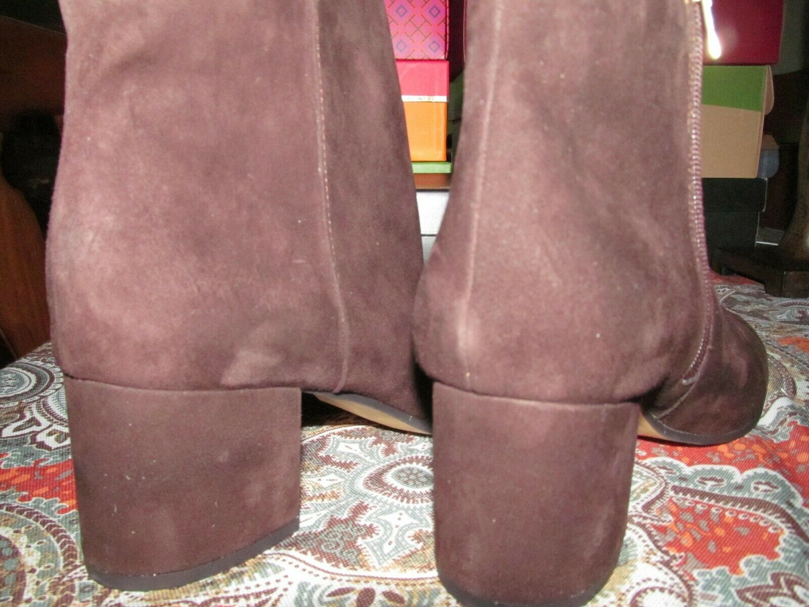 Lord and Taylors 424 Fifth Suede Suede Suede Block-Heel Booties-Brown- SZ 11 M 34edb5