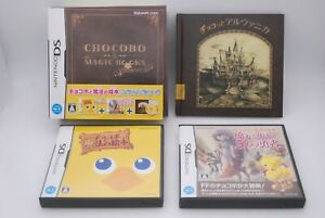 Nintendo-DS-CHOCOBO-the-MAGIC-BOOKS-Special-Package-w-CD-amp-Book-Japan-import