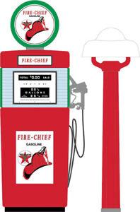 Greenlight 14080-B Vintage Gas Pumps Series 8-1951 Wayne 505 Gas Pump Texaco Fire-Chief Gasoline 1//18 Scale