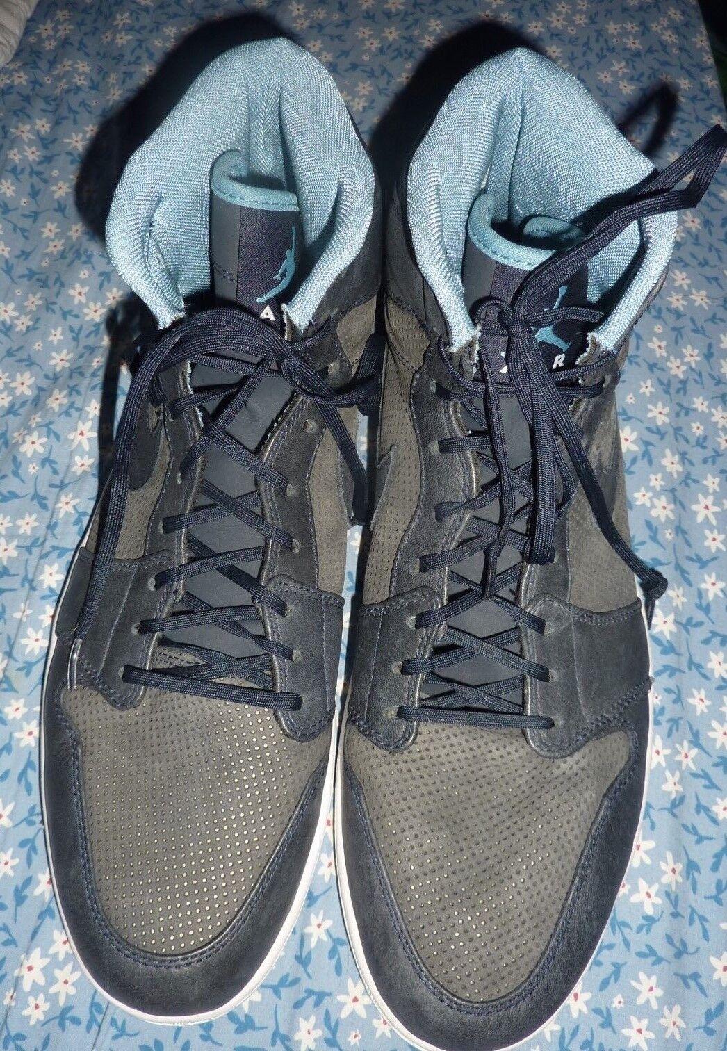Men's AIR JORDAN Nike Air Size 15 High Tops sneakers shoes bluee