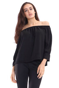 K01-New-Women-039-s-Off-Shoulder-Chiffon-Tee-Shirt-Blouse-Top-In-Plus-Size-08-26